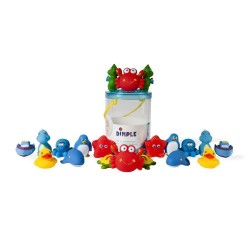 Set of 20 Non-Toxic BPA FREE Floating Bath Toys, Sea Animals Squirter Toys Assorted Tons of Fun Kids & Toddlers by Dimple