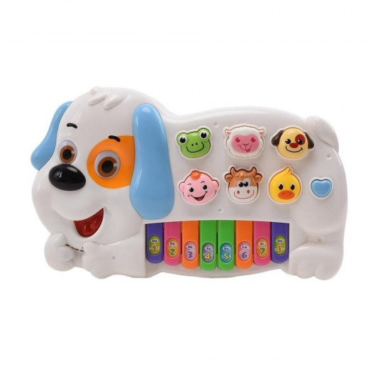 WonderPlay Puppy Musical Toy Available In Yellow/White
