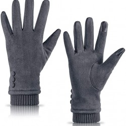 Womens Gloves Winter Touch Screen Texting Phone Windproof Gloves for Women Fleece Lined Thick Warm Gloves