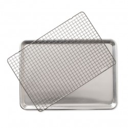 Nordic Ware Naturals Half Sheet with Oven-Safe Nonstick Grid