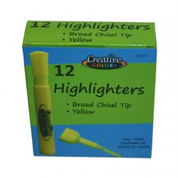 Bulk Yellow Chisel Tip Highlighters, Case Pack 144- sold in full case increments