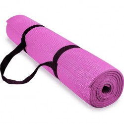 Spoga 1/4-Inch Anti-Slip Exercise Yoga Mat with Carrying Strap
