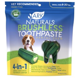 Brushless Toothpaste 4-in-1 Small Dog Dental Chews - 8-20 lbs.